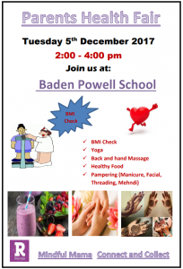 Parent Health Fair @ Baden Powell Primary School | England | United Kingdom